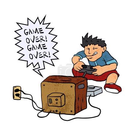 Junge spielt ein Videospiel