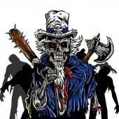 Zombie Uncle Sam Vector illustration