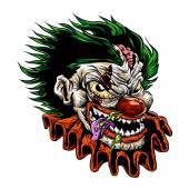 zombie evil clownvector illustration