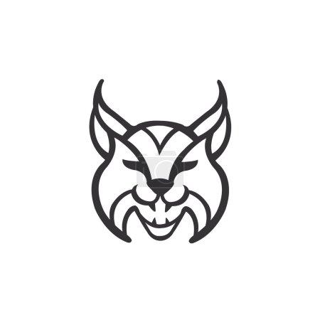 Illustration pour Illustration vectorielle de l'icône du lynx - image libre de droit