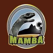 Black Mamba green beach emblem