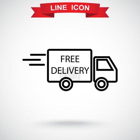 Illustration pour Icône de service de livraison gratuite. Illustration vectorielle - image libre de droit