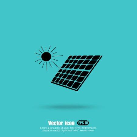 Illustration pour Icône panneau solaire, concept d'écologie. illustration vectorielle - image libre de droit