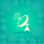 Radar satellite dish antenna icon vector illustration