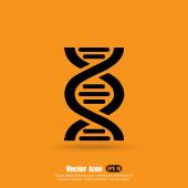 Dna strands icon genetic