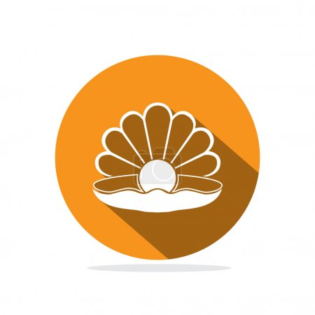 pearl in coquille icon