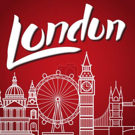 London Backgound Lettering