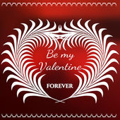 Vector Illustration of Valentines Day Card for Design Website Background Banner Template for Valentine Beautiful Logo for Love with leaf