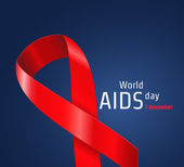 Vector Illustration of world AIDS day in December 1 for Design Website Background Banner Red Ribbon Symbol of hope Element Template