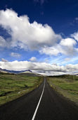 Iceland landscape with road