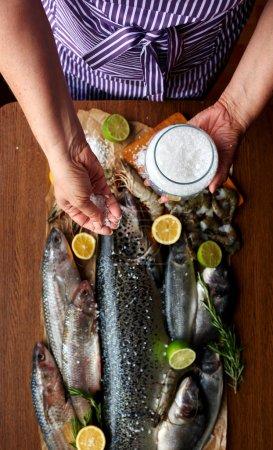 She adds salt fish