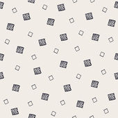 Geometric hand drawn seamless pattern with squares