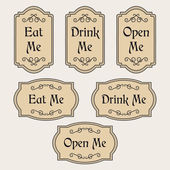 Eat Drink Open Me vintage labels
