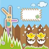 Húsvéti scrapbook elemeket. illusztráció