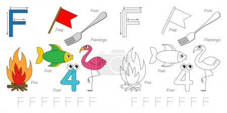 Pictures for letter F