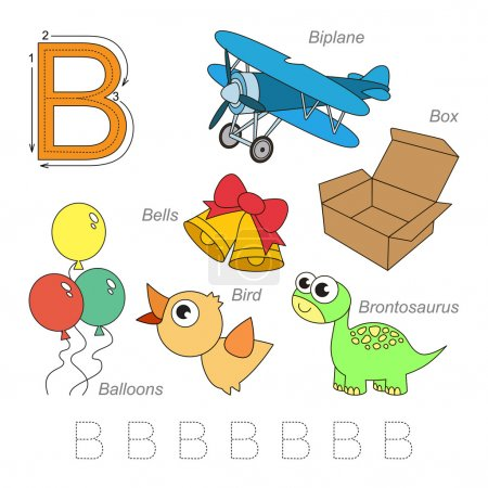Pictures for letter B