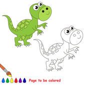 Tyrannosaurus kreslený. Stránka k barevné