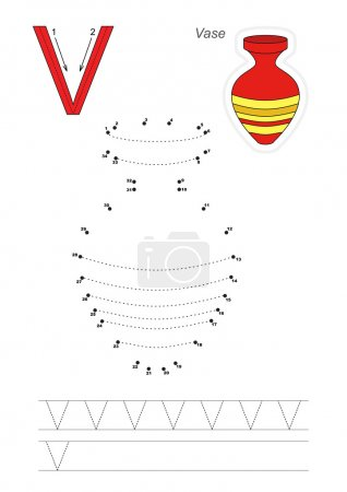 Numbers game for letter V
