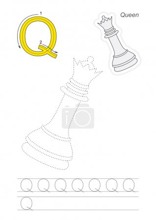 Trace game for letter Q