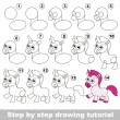 Постер, плакат: Unicorn Drawing tutorial