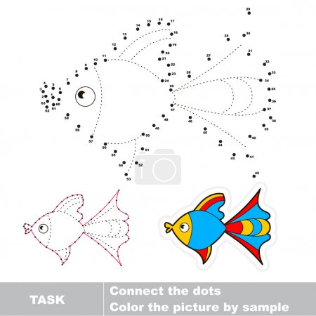 Dot to dot trace game for kids.
