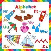 Alphabet for children R-Z