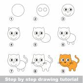 Drawing tutorial How to draw a Small Kitten
