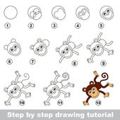 Drawing tutorial How to draw a Funny Monkey