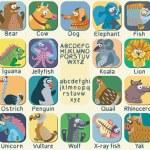 Постер, плакат: Vector color zoo alphabet with cute animals