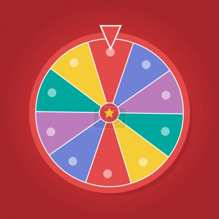 Illustration for Lucky wheel vector template. Color lucky wheel eps10 - Royalty Free Image