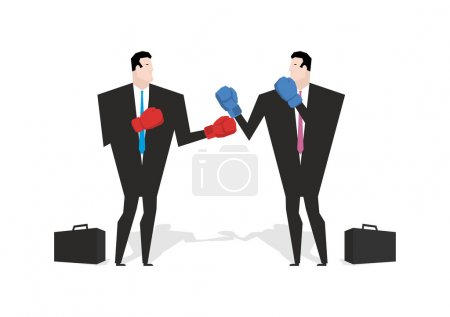 Boxing businessman. Managers are boxing. Office people fight. co