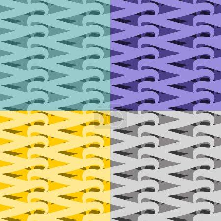Illustration pour Modèle de filet sans couture. Vite fond abstrait. Définir la texture de verrouillage. Ornement vintage pour fabri - image libre de droit