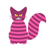 Cheshire Cat Magic animal with long tail Striped Fairy tale