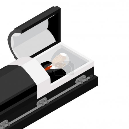 Deceased in coffin. late lamented lay in wooden casket. Corpse i