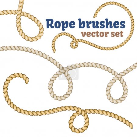 Illustration for Rope brushes set. Decorative vector knots for your designs - Royalty Free Image
