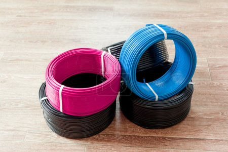 set colored electric cable
