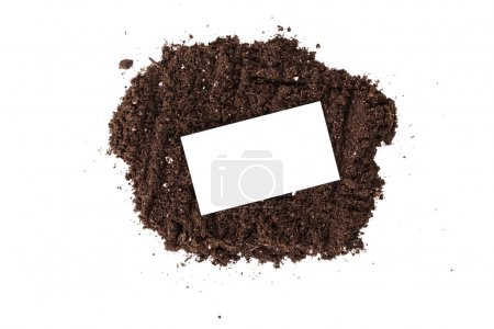 Brown Soil with blank business card