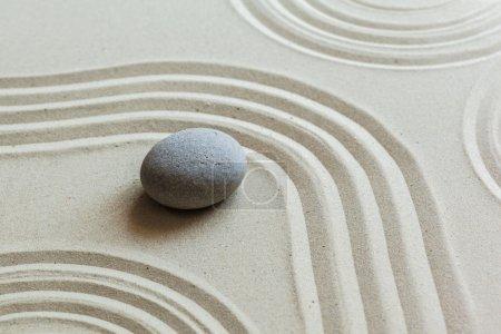 Photo pour Jardin, sable fond en pierre zen japonais - image libre de droit