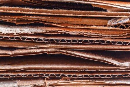 Photo pour Un tas de carton ondulé, gros plan - image libre de droit