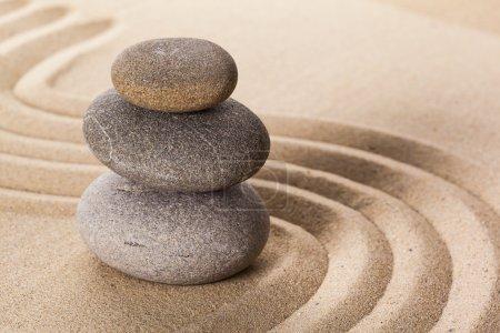 Zen stones garden