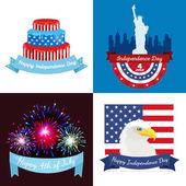 Happy čtvrtého července, Den nezávislosti návrh ilustrace