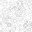 Постер, плакат: Business mechanism concept Abstract background with connected gears and icons for strategy service analytics research seo digital marketing communicate concepts Vector seamless pattern