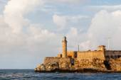 Fortress and lighthouse of El Morro in the entrance of Havana bay, Cuba.