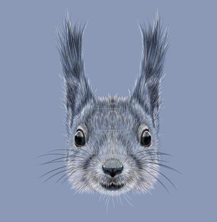 Illustrated Portrait of Squirrel