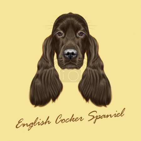 Vector Illustrated portrait of Gordon Setter dog.