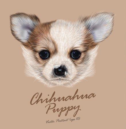 Vector Illustrative Portrait of Chihuahua Puppy