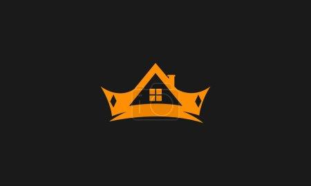 Illustration pour Immobilier roi investissement logo inspirations, design de logo immobilier - image libre de droit