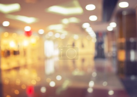 Shopping mall blurred background, image tinted
