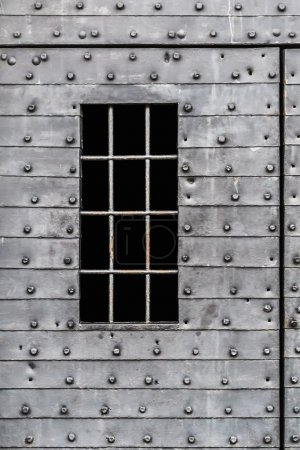 Armored Heavy Medieval Fortress Metal Door Iron Bars Window Detail