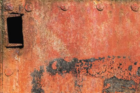 Corroded Metal Plate With Heavy